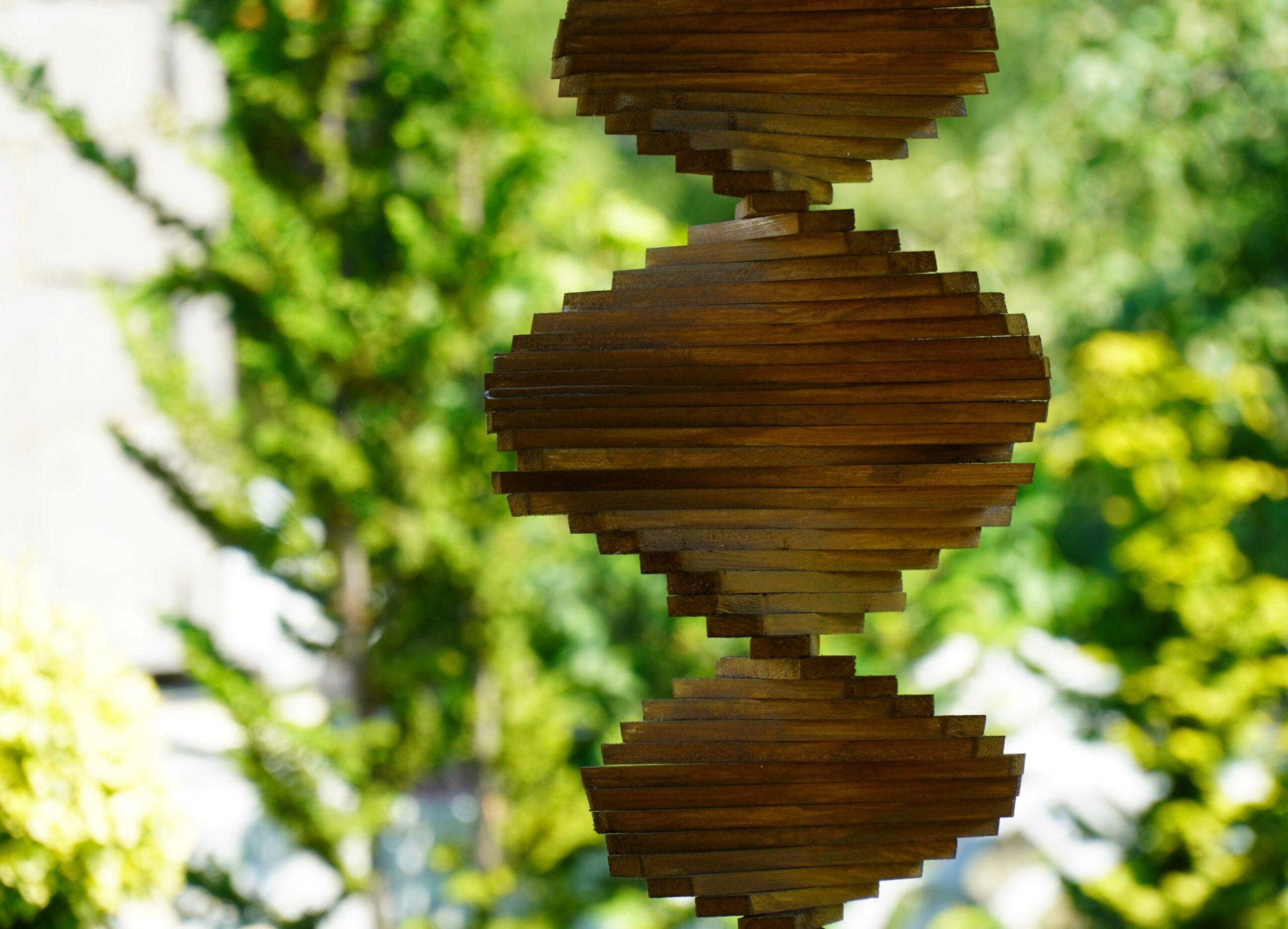Genetic ARVC Wooden Double Helix Representation